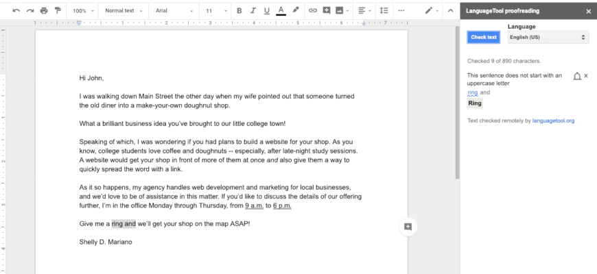 Proofread Prospecting Letter 9894120 870x400